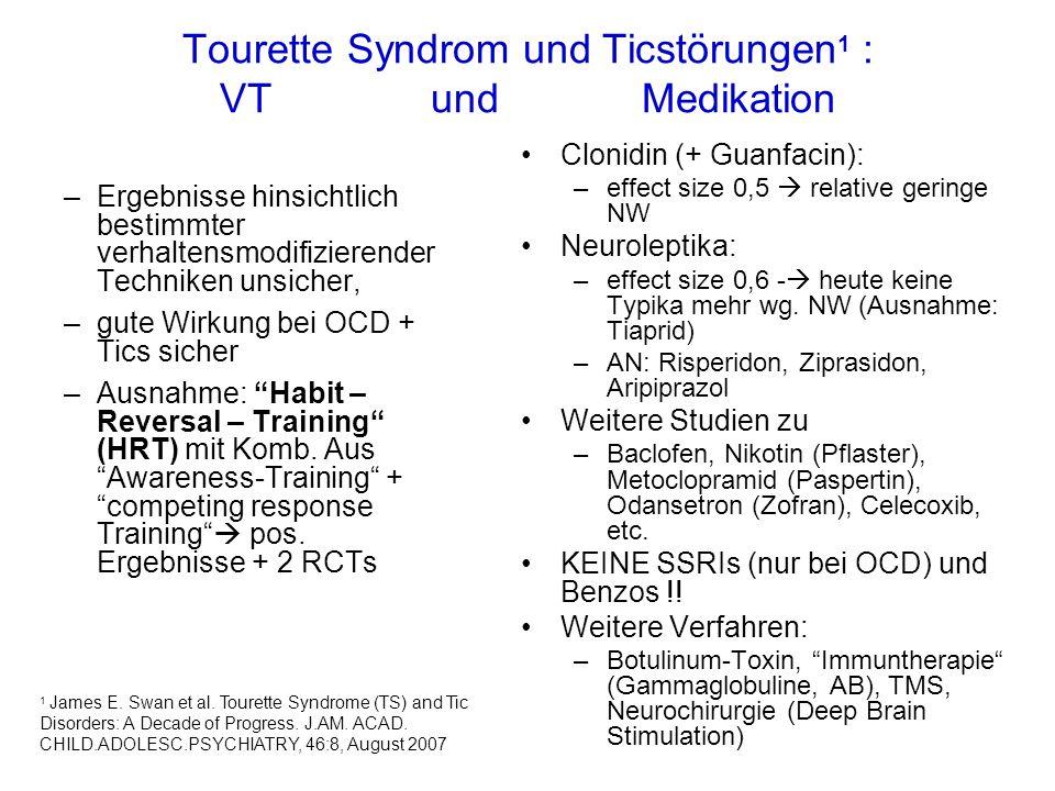 Tourette Syndrom und Ticstörungen1 : VT und Medikation