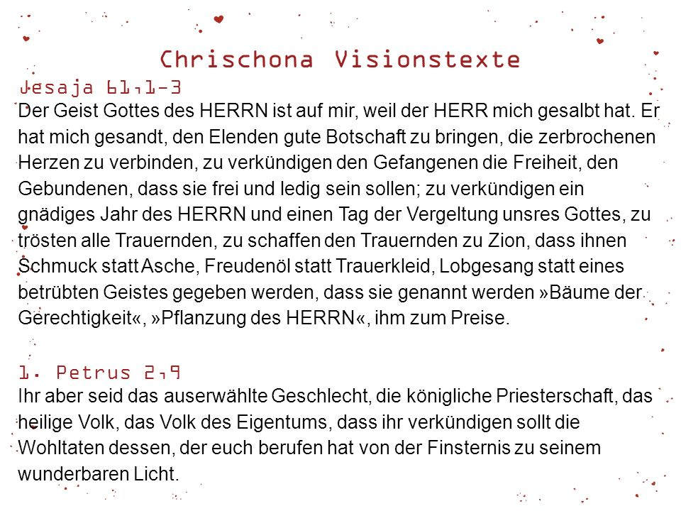 Chrischona Visionstexte