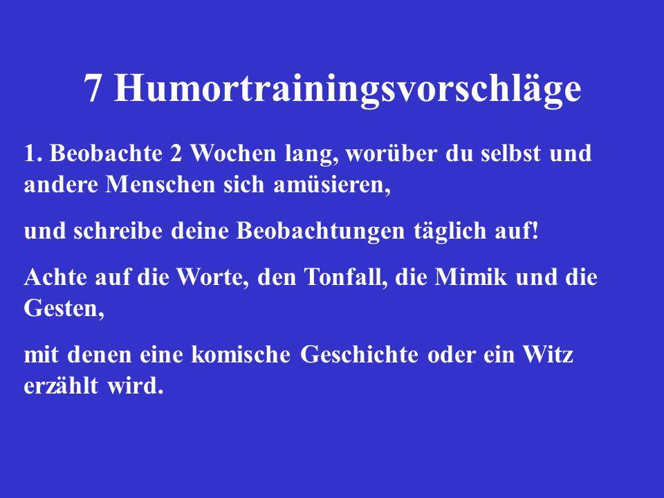 7 Humortrainingsvorschläge