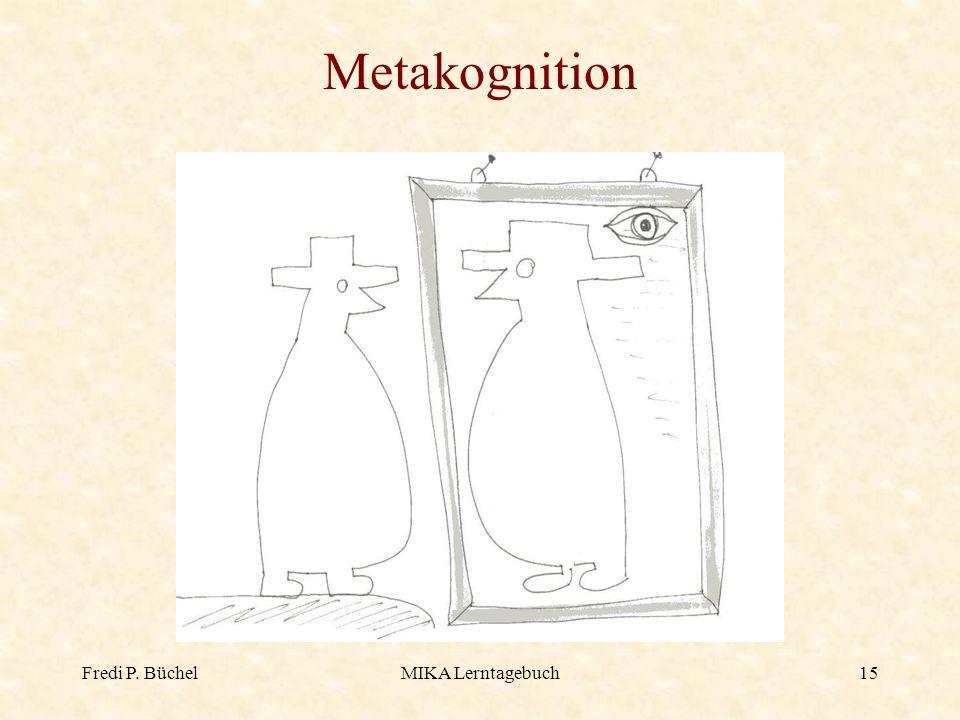 Metakognition Fredi P. Büchel MIKA Lerntagebuch