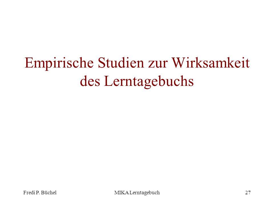 Empirische Studien zur Wirksamkeit des Lerntagebuchs