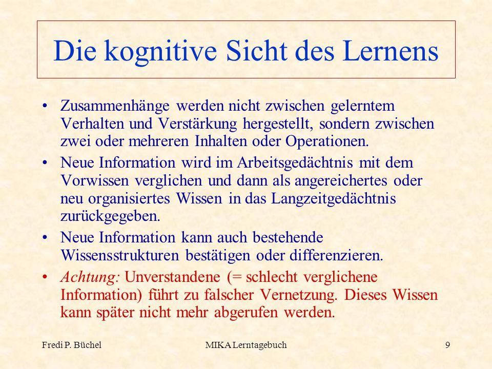 Die kognitive Sicht des Lernens