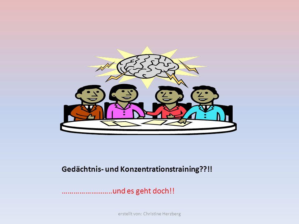 Gedächtnis- und Konzentrationstraining !!