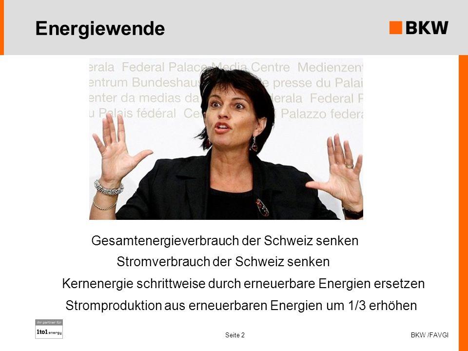 Energiewende Gesamtenergieverbrauch der Schweiz senken