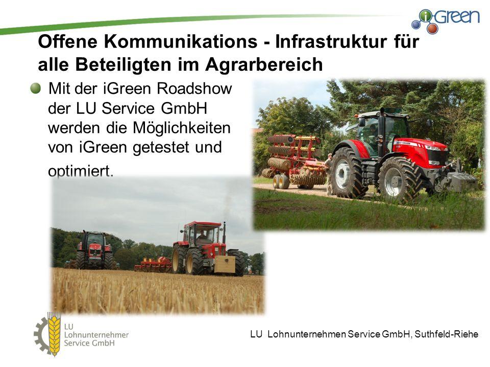 Offene Kommunikations - Infrastruktur für alle Beteiligten im Agrarbereich
