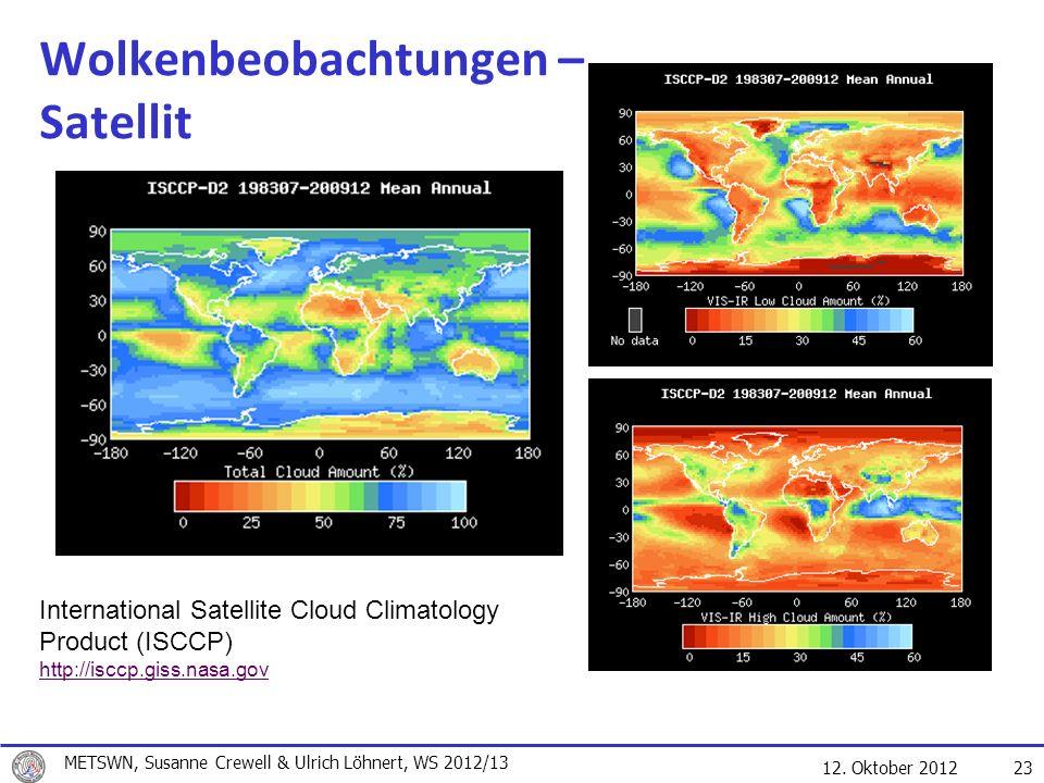 Wolkenbeobachtungen – Satellit