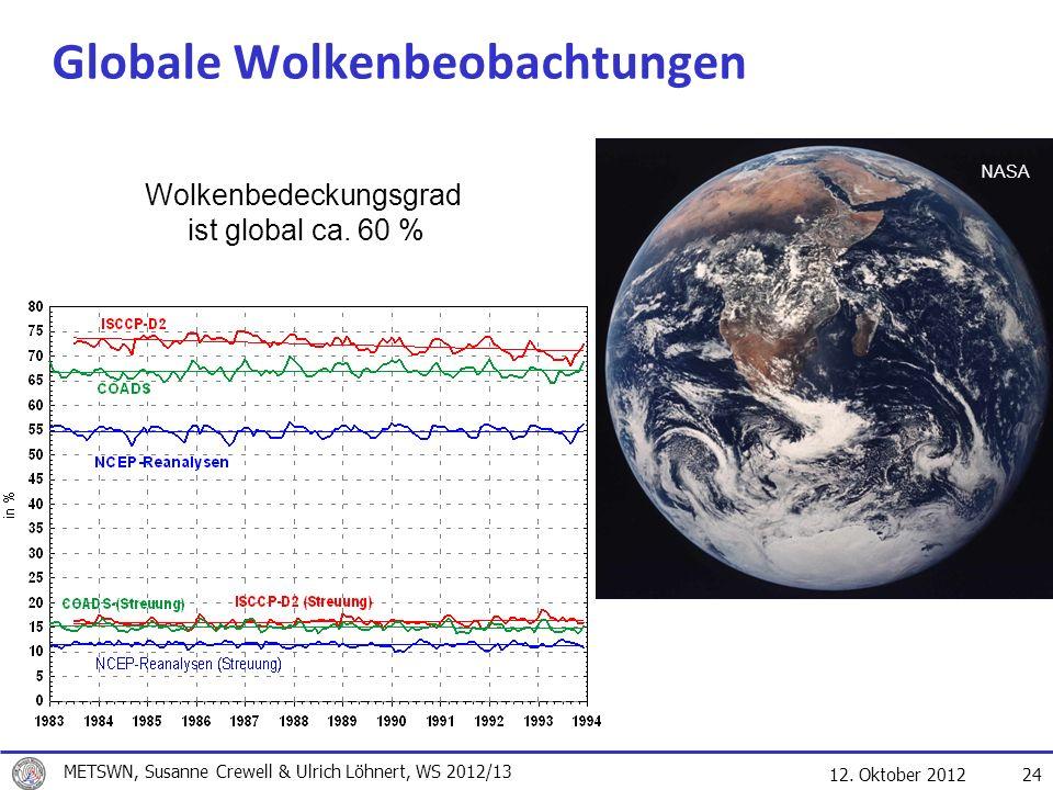 Globale Wolkenbeobachtungen