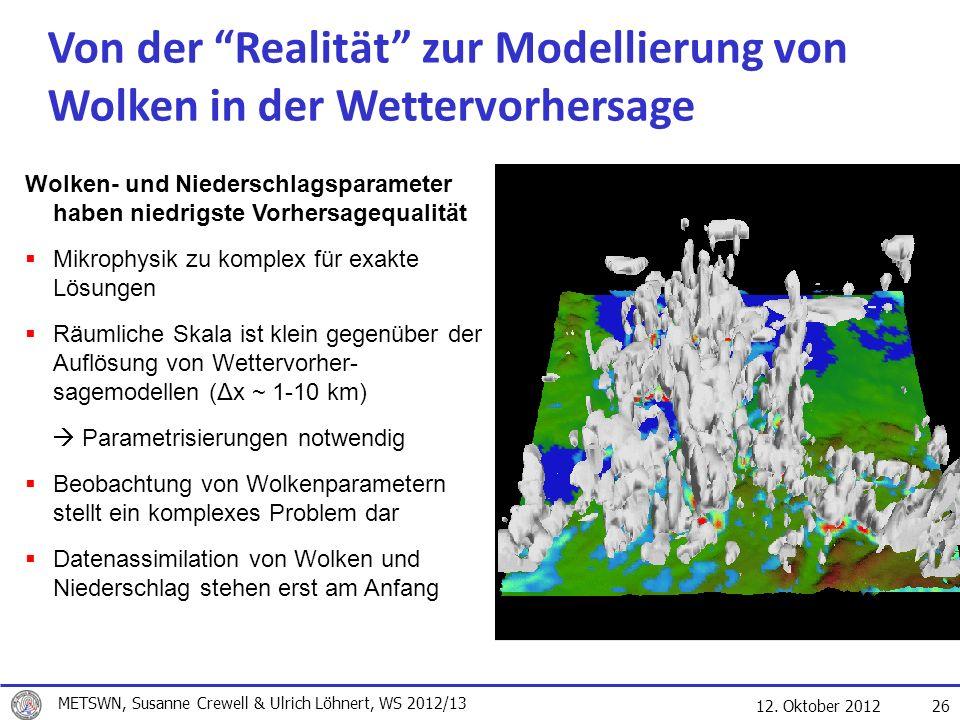 Von der Realität zur Modellierung von Wolken in der Wettervorhersage