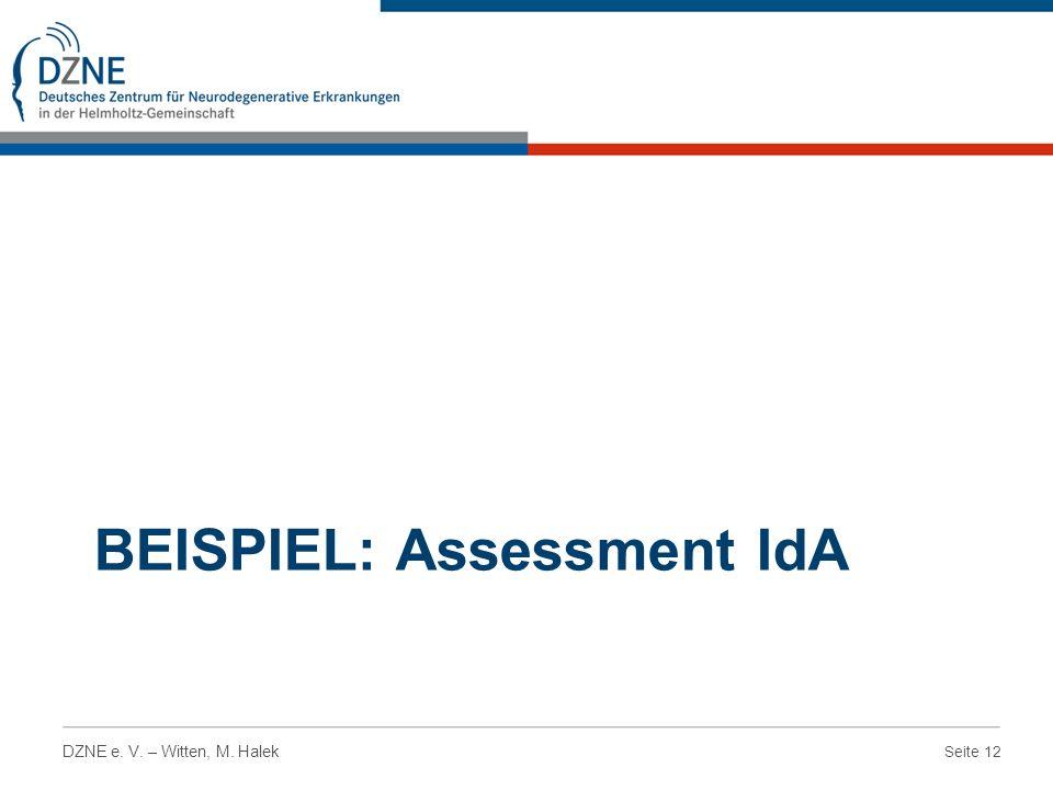 Beispiel: Assessment IdA