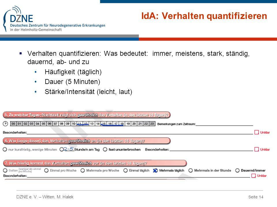 IdA: Verhalten quantifizieren
