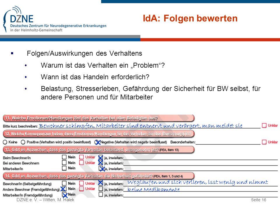 IdA: Folgen bewerten Folgen/Auswirkungen des Verhaltens