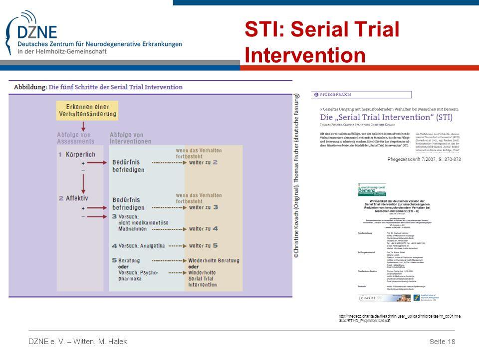 STI: Serial Trial Intervention