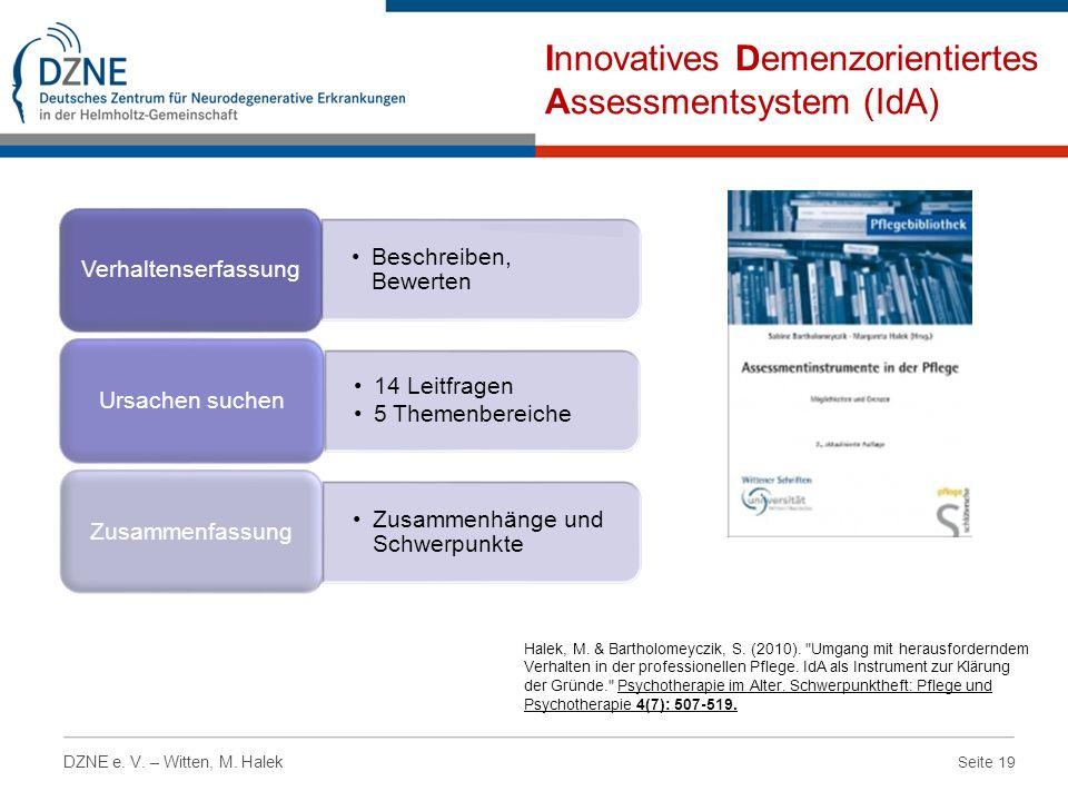 Innovatives Demenzorientiertes Assessmentsystem (IdA)