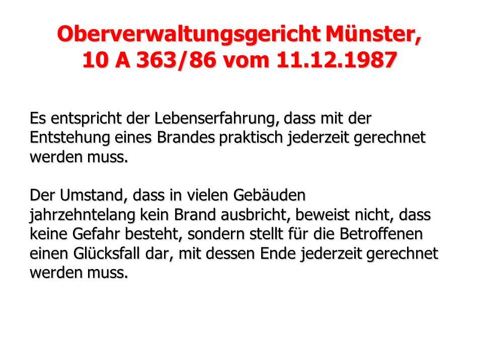 Oberverwaltungsgericht Münster,