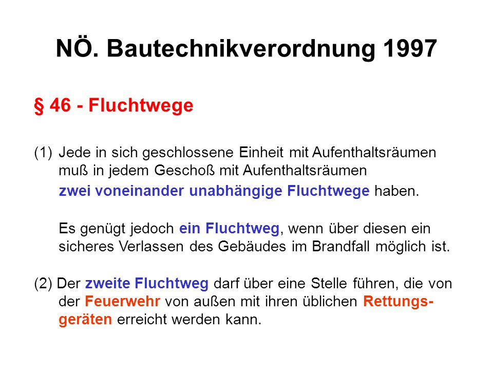 NÖ. Bautechnikverordnung 1997