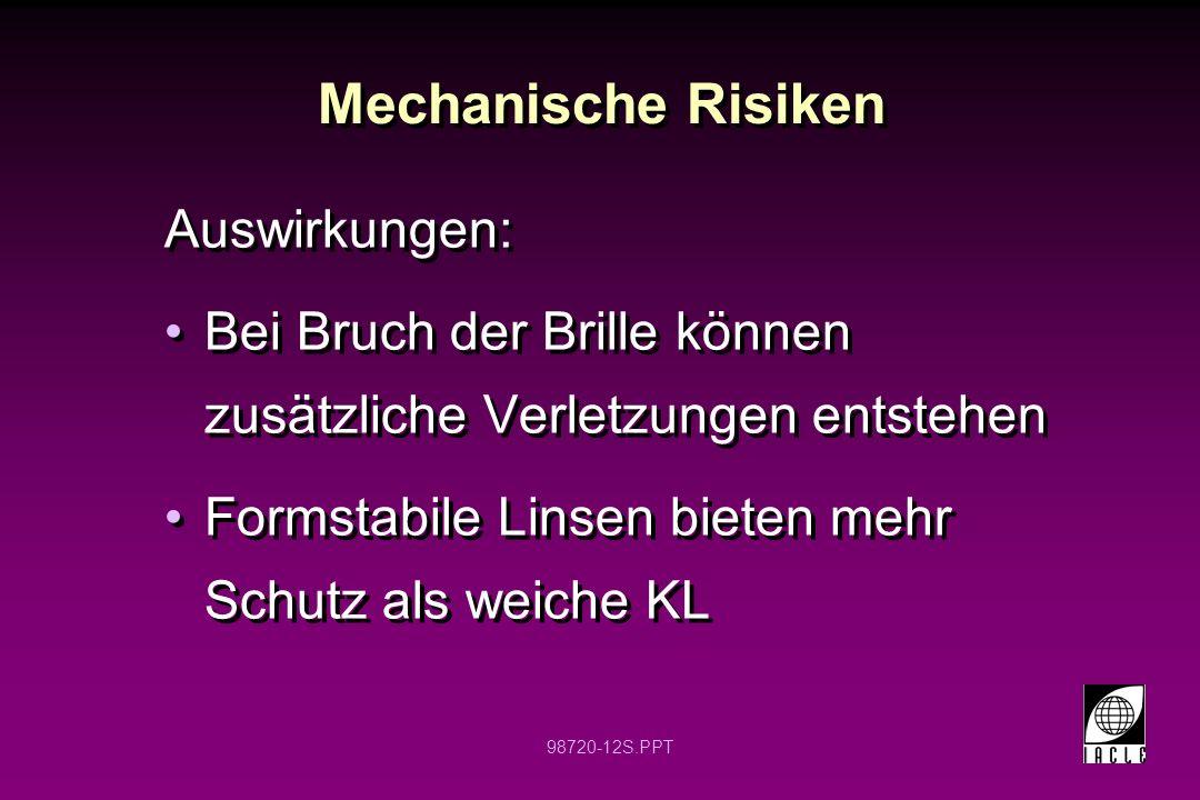 Mechanische Risiken Auswirkungen: