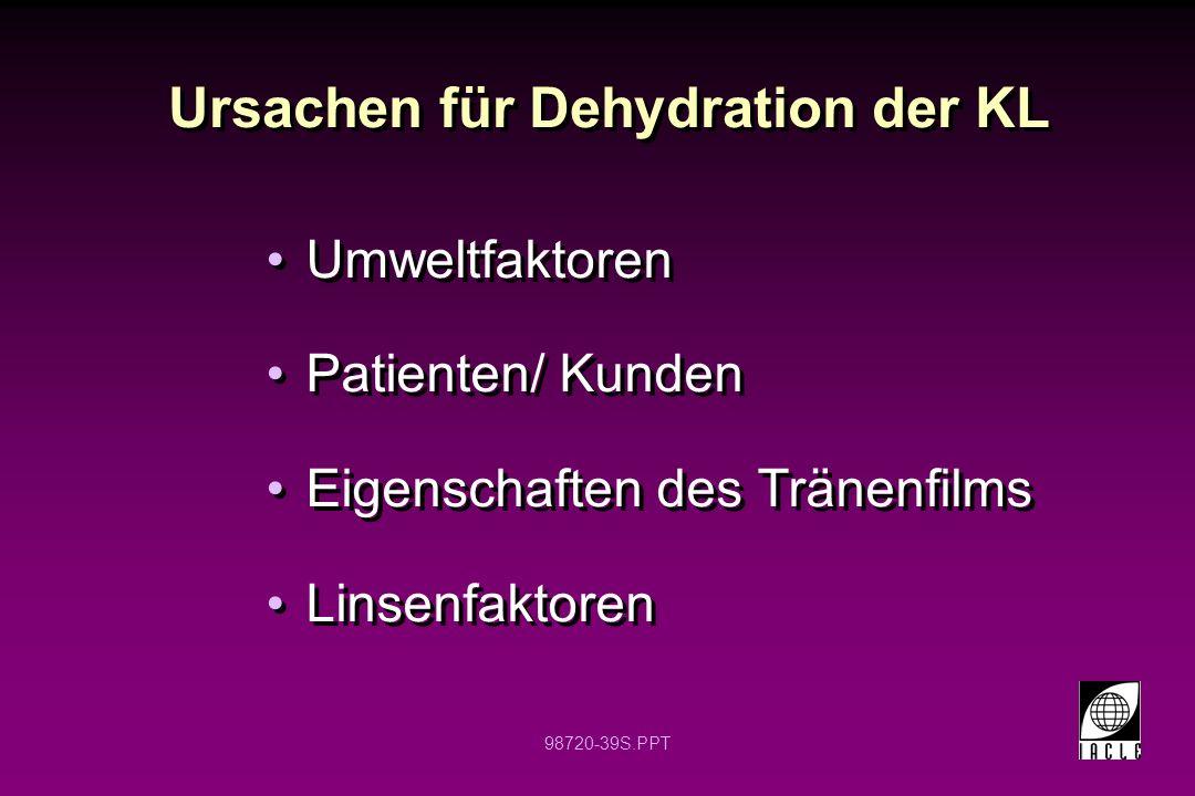 Ursachen für Dehydration der KL