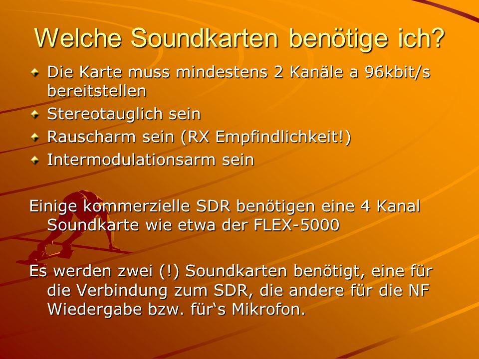Welche Soundkarten benötige ich