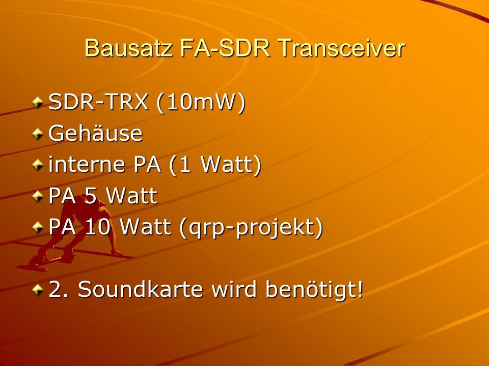 Bausatz FA-SDR Transceiver