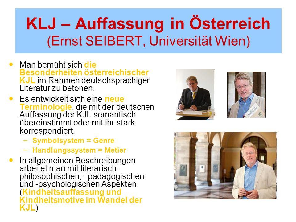 KLJ – Auffassung in Österreich (Ernst SEIBERT, Universität Wien)