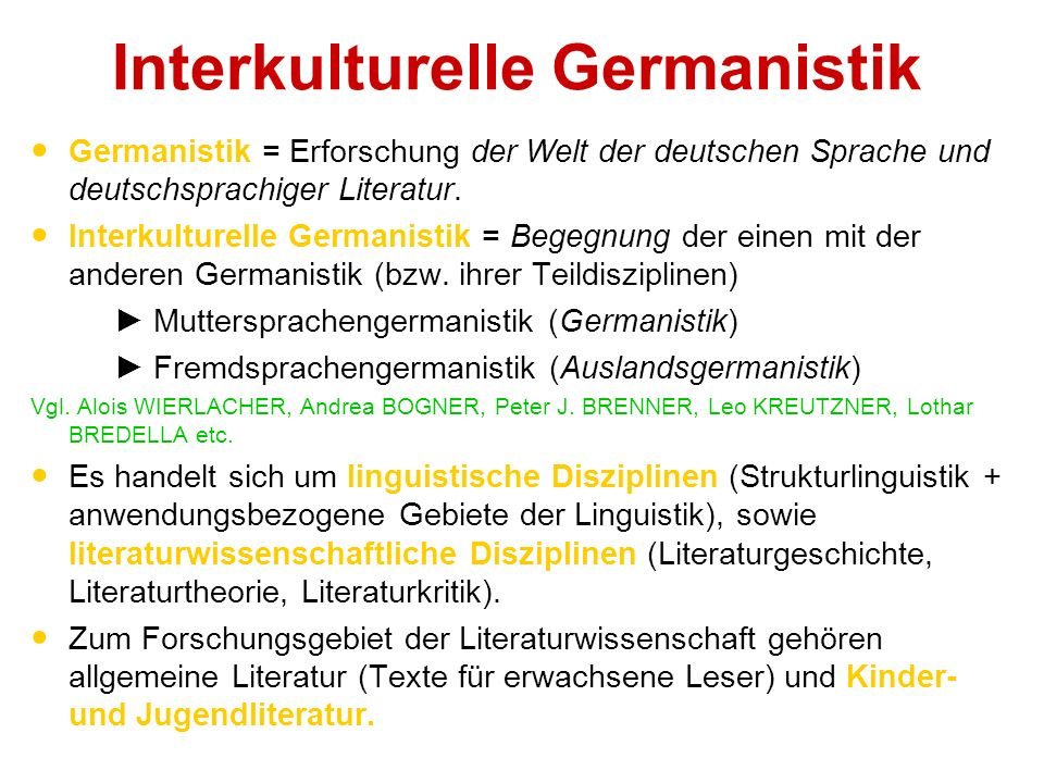 Interkulturelle Germanistik
