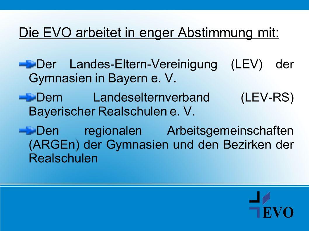 Die EVO arbeitet in enger Abstimmung mit: