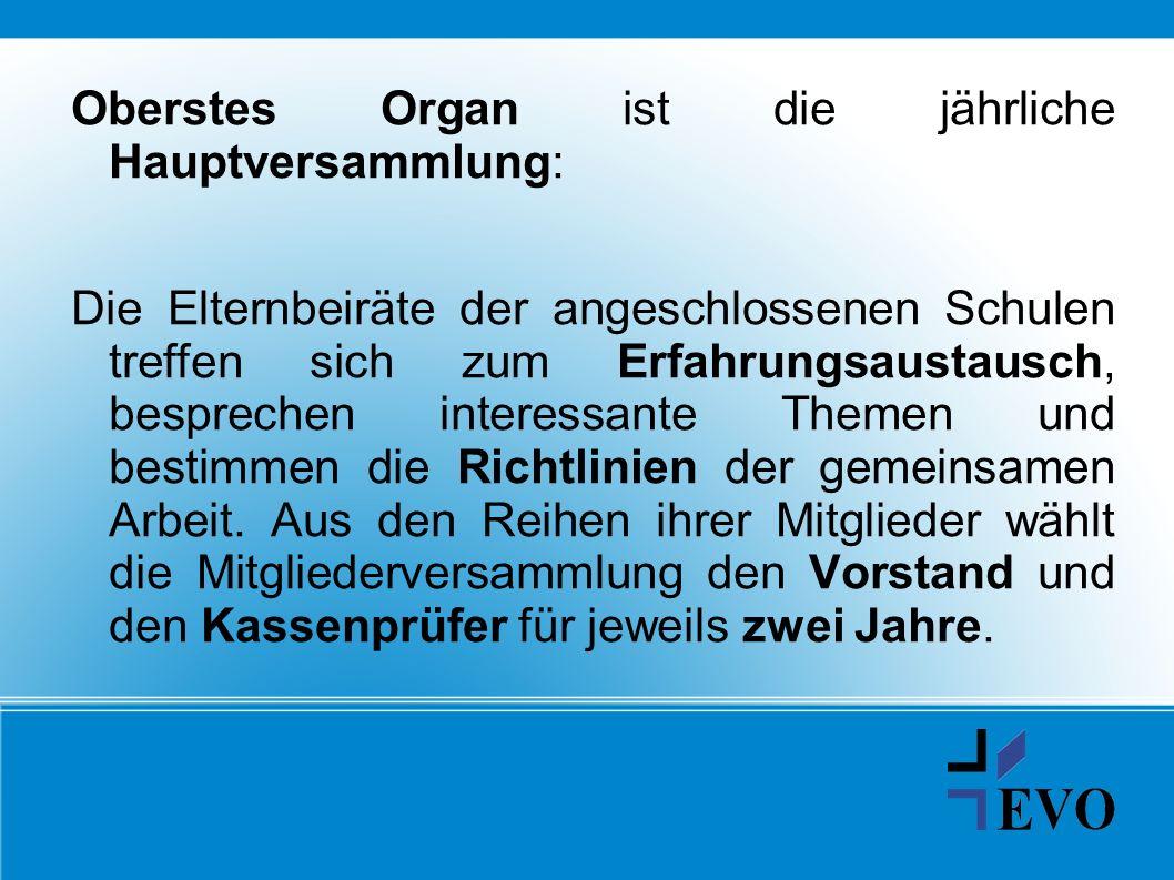 Oberstes Organ ist die jährliche Hauptversammlung: