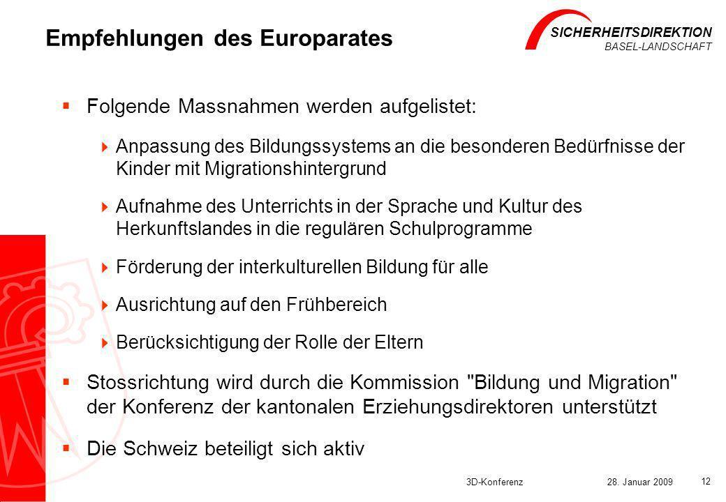 Empfehlungen des Europarates