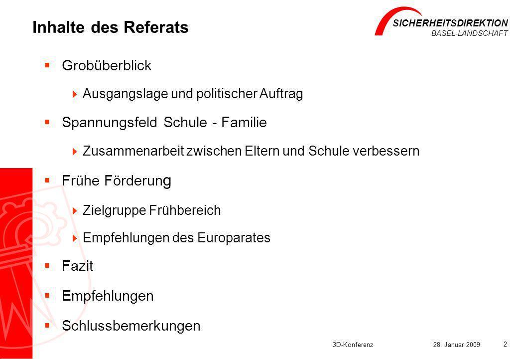 Inhalte des Referats Grobüberblick Spannungsfeld Schule - Familie