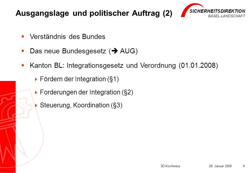 Ausgangslage und politischer Auftrag (2)