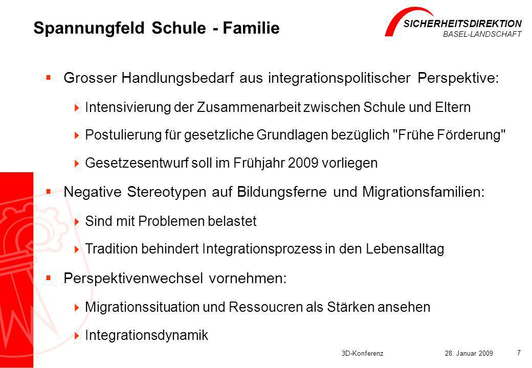 Spannungfeld Schule - Familie