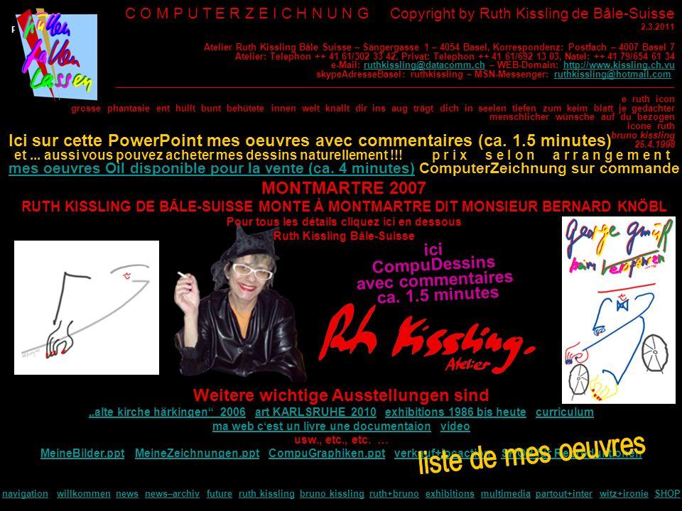 C O M P U T E R Z E I C H N U N G Copyright by Ruth Kissling de Bâle-Suisse