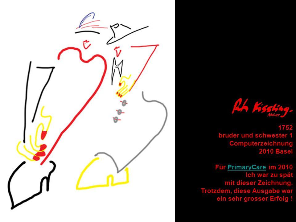 1752 bruder und schwester 1. Computerzeichnung. 2010 Basel. Für PrimaryCare im 2010. Ich war zu spät.