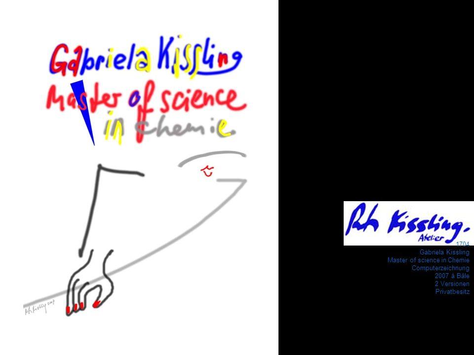 1704Gabriela Kissling.Master of science in Chemie.