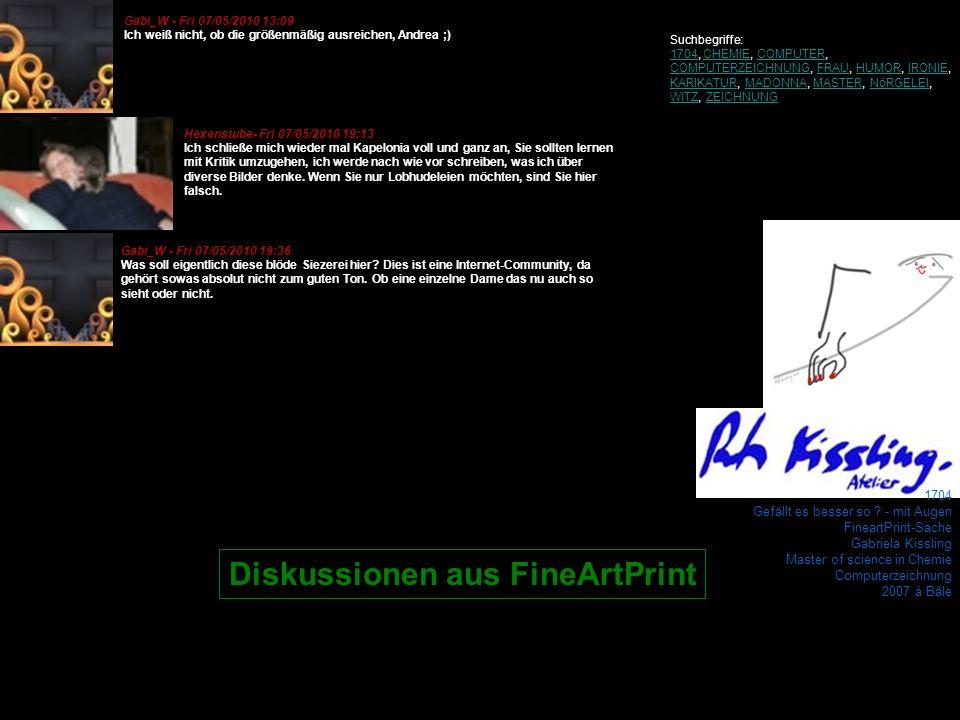 Diskussionen aus FineArtPrint