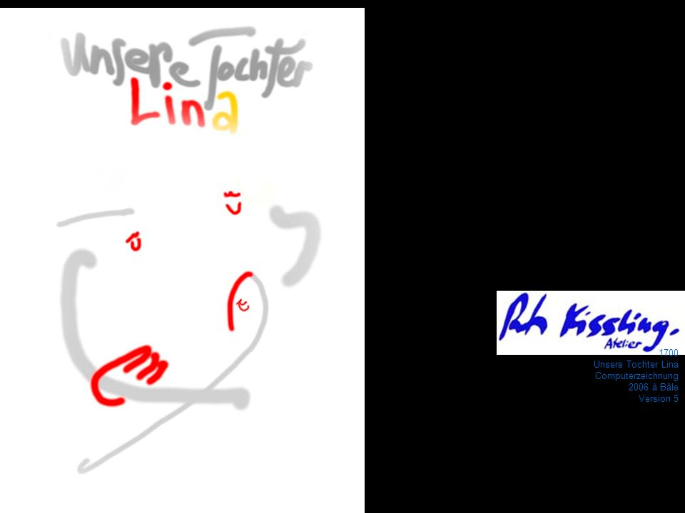 1700 Unsere Tochter Lina Computerzeichnung 2006 à Bâle Version 5