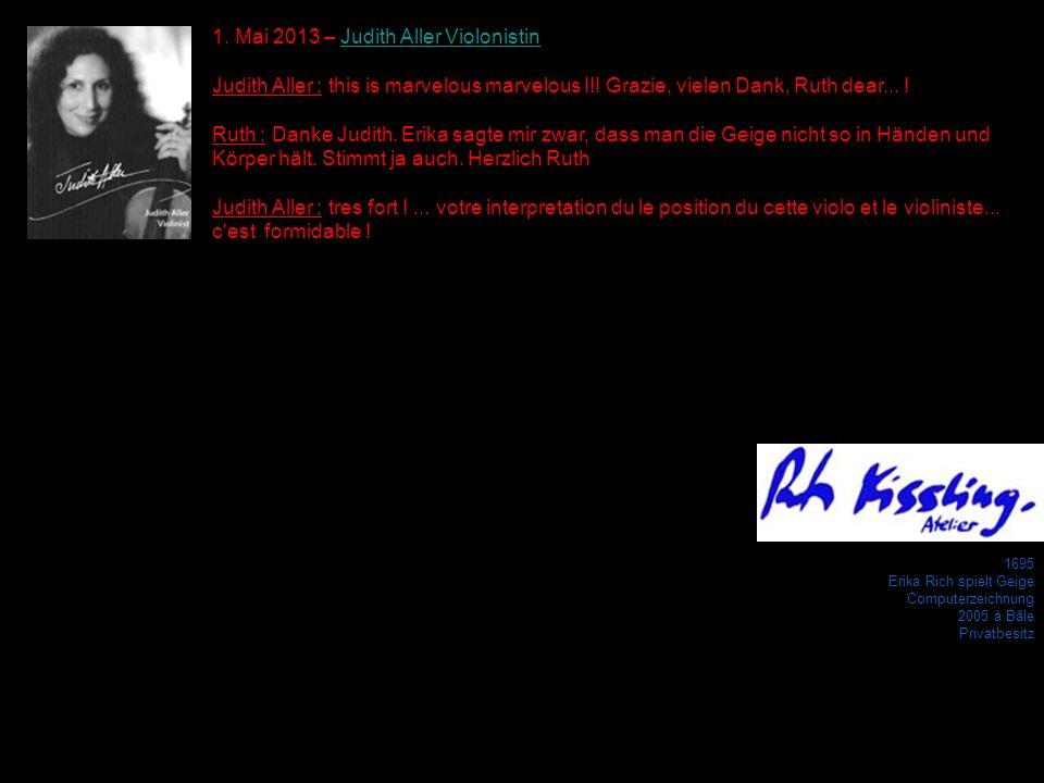 1. Mai 2013 – Judith Aller Violonistin
