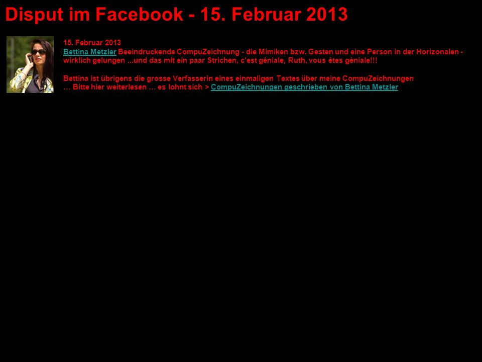 Disput im Facebook - 15. Februar 2013