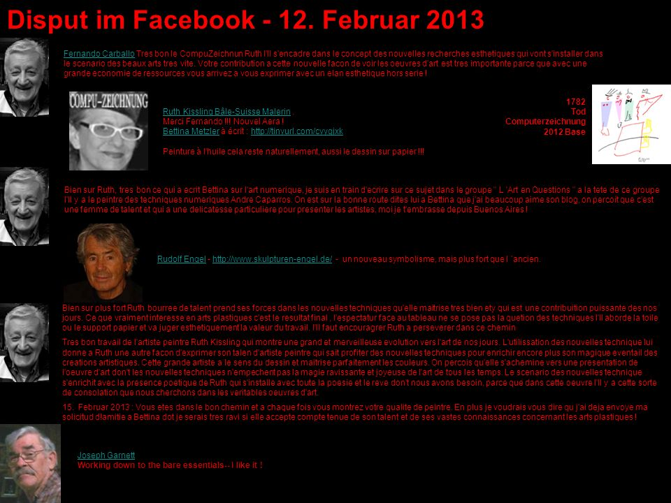 Disput im Facebook - 12. Februar 2013