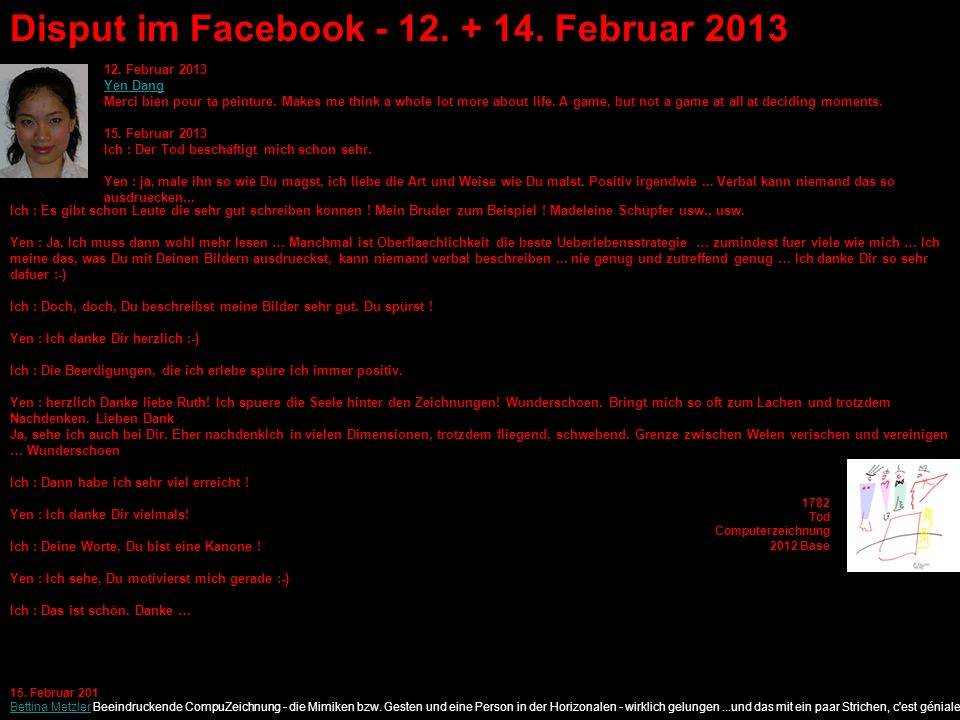 Disput im Facebook - 12. + 14. Februar 2013