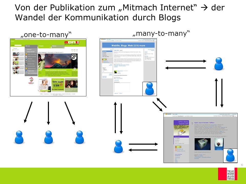 """Von der Publikation zum """"Mitmach Internet  der Wandel der Kommunikation durch Blogs"""