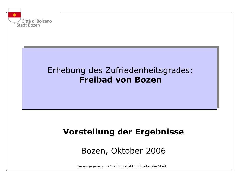 Erhebung des Zufriedenheitsgrades: Freibad von Bozen