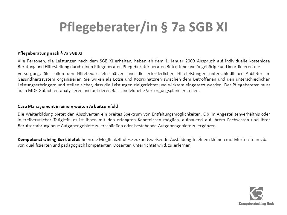 Pflegeberater/in § 7a SGB XI