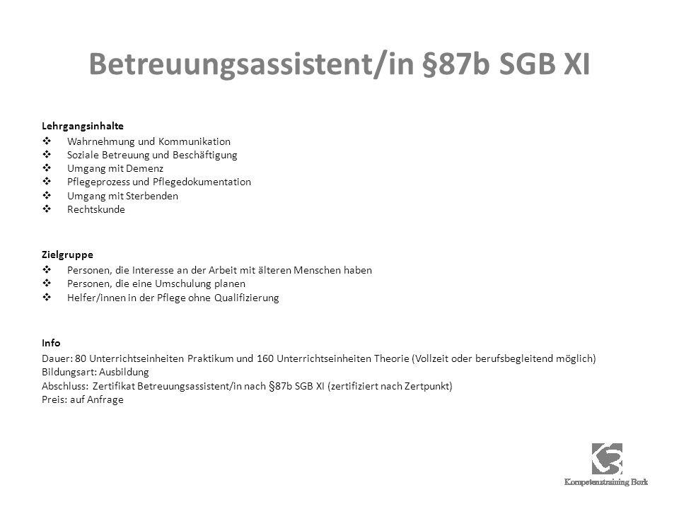 Betreuungsassistent/in §87b SGB XI