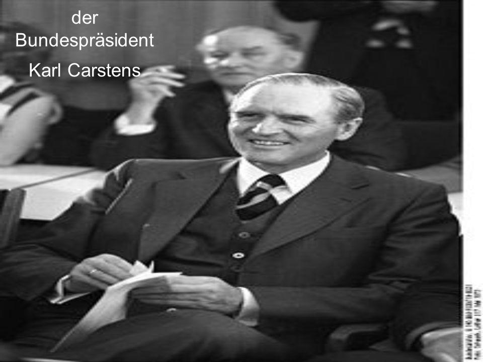 der Bundespräsident Karl Carstens