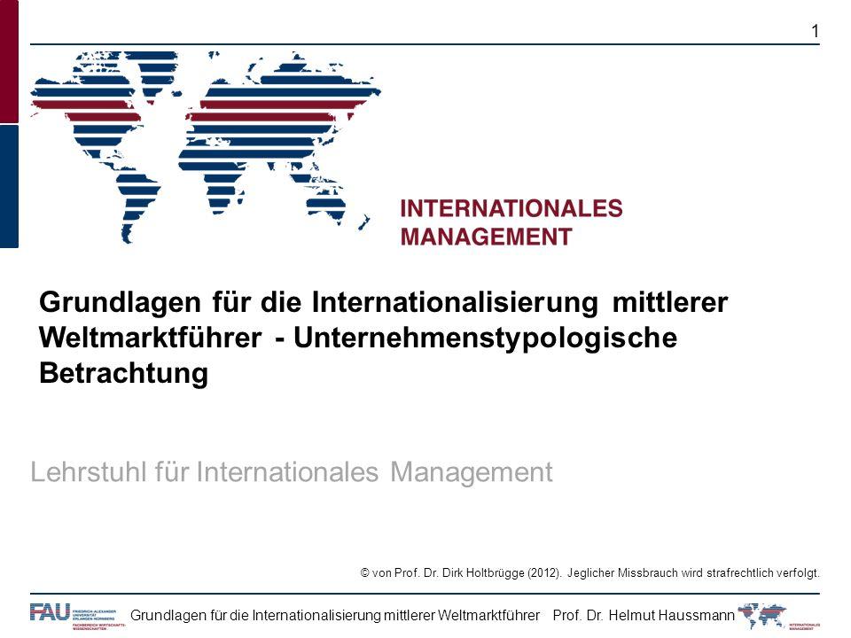 Grundlagen für die Internationalisierung mittlerer Weltmarktführer - Unternehmenstypologische Betrachtung