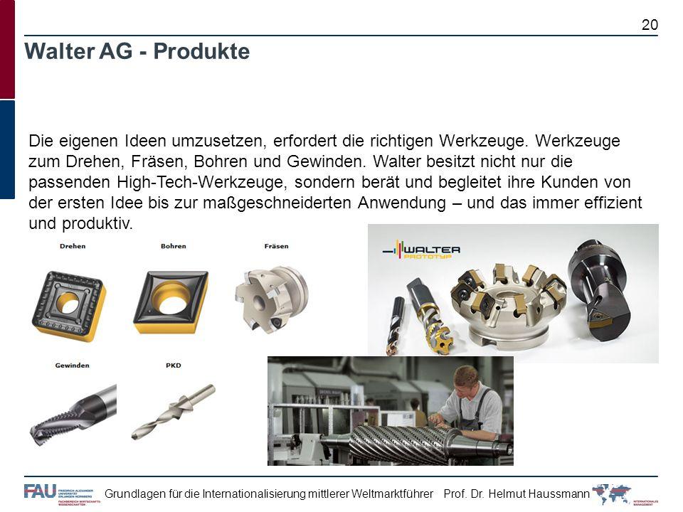 Walter AG - Produkte