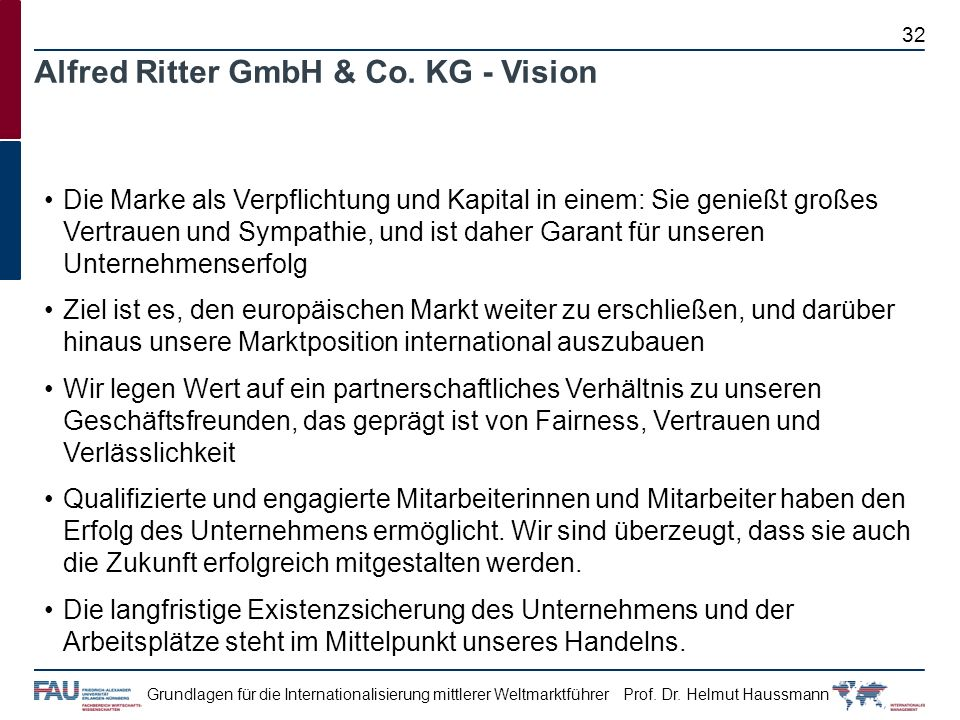 Alfred Ritter GmbH & Co. KG - Vision