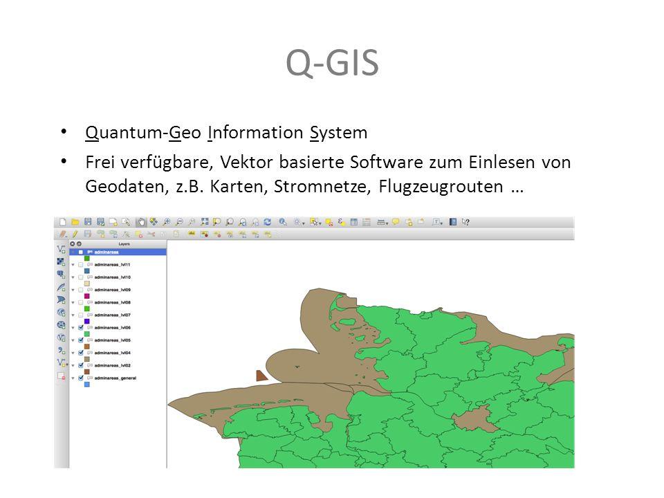 Q-GIS Quantum-Geo Information System
