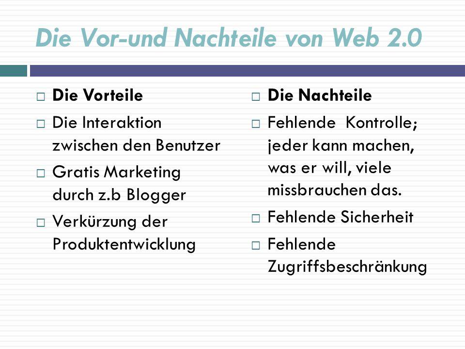 Die Vor-und Nachteile von Web 2.0